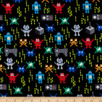 Timeless Treasures Pixelated Robots Multi