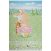 "Timeless Treasures Friendship Blossoms 24"" Bunny And Her Bear Panel Multi"