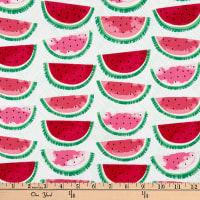 Timeless Treasures Watermelon Party Watermelon On Hatch White