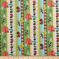 Timeless Treasures Farm Fun Farm Stripe Multi