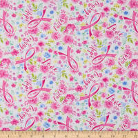 Timeless Treasures Breast Cancer Ribbon Pink
