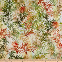 Timeless Treasures Digital Peony Dance Bamboo Grass Multi