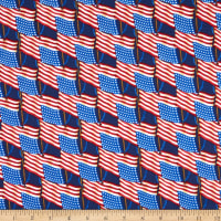 Henry Glass Land Of The Free Set Flag Blue