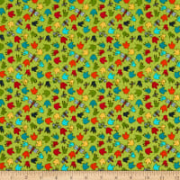 Henry Glass Whirly-Gig Magic Paw Print Green