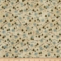 Henry Glass Folk Art Flannels 3 Compass Toss Cream