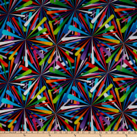 "Henry Glass Smashing Atoms 108"" Quilt Back Black/Multi"