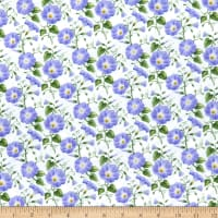Henry Glass Hydrangea Birdsong Morning Glories Purple