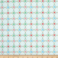 Henry Glass Sew Let's Stitch Sewing Pinwheels Light Blue