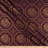 The Textile Pantry Summer Palace Metallic Dragons Plum