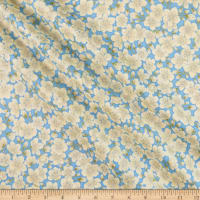 The Textile Pantry Summer Palace Metallic Blossom Blue/Green