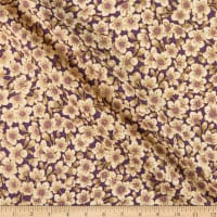 The Textile Pantry Summer Palace Metallic Blossom Purple/Cream