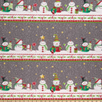 In The Beginning Fabrics Joy Peace & Love Border Multi