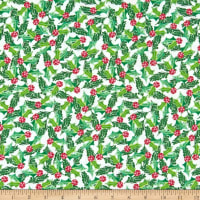 In The Beginning Fabrics Joy Peace & Love Holly Green