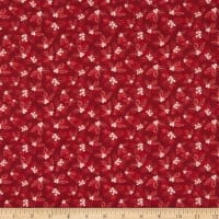 In The Beginning Fabrics A Poinsettia Winter Holly Red