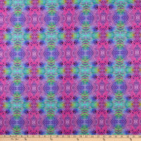 In The Beginning Fabrics Safari Tie Dye Fuchsia