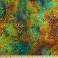 In The Beginning Fabrics Safari Leopard Copper/Moss