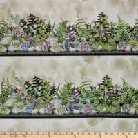 In The Beginning Fabrics Terrarium Border Multi