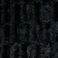 Shannon Luxe Faux Fur Embossed Mink Black