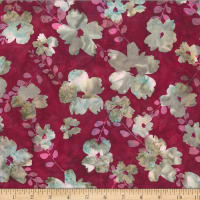 Hoffman Bali Batik Graphic Flower Burgundy