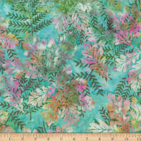 Hoffman Bali Batik Oak Leaves Seamist
