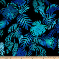 Kaufman Makaha Nights Rayon Poplin Palms Pacific