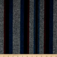 Kaufman Taos Flannel Stripes Pimento