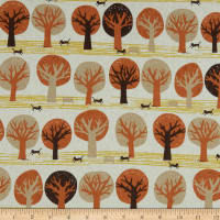 Kaufman Sevenberry Canvas Trees Autumn