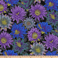 Kaffe Fassett Collective for FreeSpirit Cactus Flower Black