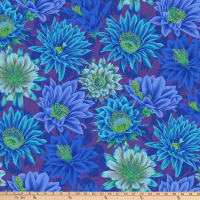 Kaffe Fassett Collective for FreeSpirit Cactus Flower Blue