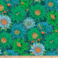 Kaffe Fassett Collective for FreeSpirit Cactus Flower Green