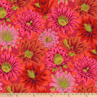 Kaffe Fassett Collective for FreeSpirit Cactus Flower Red