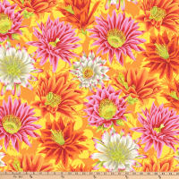 Kaffe Fassett Collective for FreeSpirit Cactus Flower Yellow