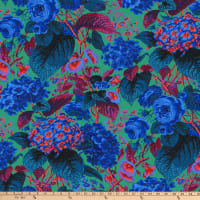 Kaffe Fassett Collective for FreeSpirit Rose and Hydrangea Blue