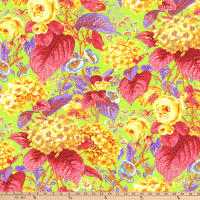 Kaffe Fassett Collective for FreeSpirit Rose and Hydrangea Citrus
