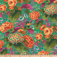Kaffe Fassett Collective for FreeSpirit Rose and Hydrangea Green