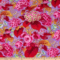 Kaffe Fassett Collective for FreeSpirit Rose and Hydrangea Hot