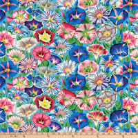 Kaffe Fassett Collective for FreeSpirit Variegated Morning Glory Aqua