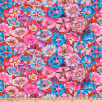 Kaffe Fassett Collective for FreeSpirit Variegated Morning Glory Red