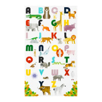 Kaufman A To Z Animals Alphabet Panel White