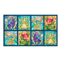 "Kaufman Wild Magic Frog 24"" Panel Wild"