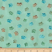 Kaufman Whiskers & Tails Paws Grass