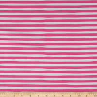 Kaufman Magical Rainbow Unicorns Stripes Pink