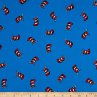 Kaufman The Cat In The Hat Striped Hats Blue