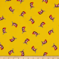 Kaufman The Cat In The Hat Striped Hats Yellow