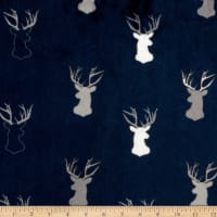 Shannon Studio Minky Cuddle Antlers Navy