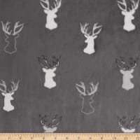 Shannon Studio Minky Cuddle Antlers Graphite