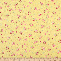 Lecien Antique Flower Pastel Floral Dot Swiss Cheese