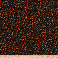 Max Mara Italian Designer Silk Black/Red/Green