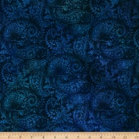 In The Beginning Fabrics Seasons Paisley Blue