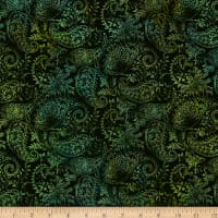 In The Beginning Fabrics Seasons Paisley Green